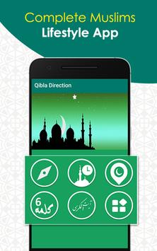 Qibla Direction poster
