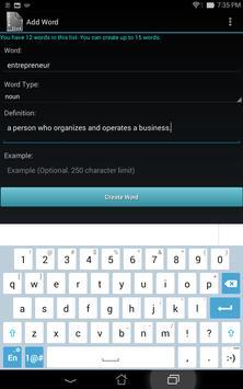 Vocabulary List Creator screenshot 15