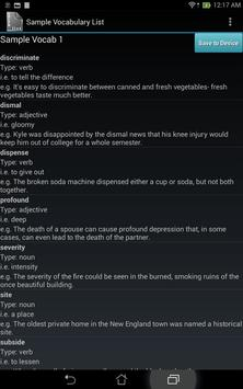 Vocabulary List Creator screenshot 12