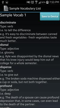 Vocabulary List Creator screenshot 4
