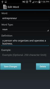 Vocabulary List Creator screenshot 6