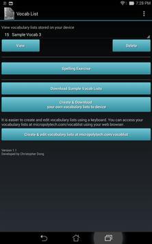 Vocabulary List Creator screenshot 8