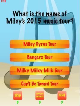 Miley Cyrus Trivia poster