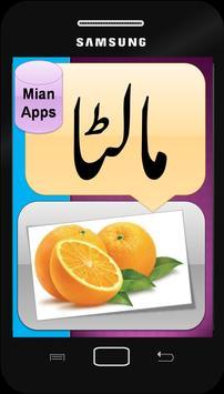 Urdu Fruits Names - Kids Learning- Fruits Pictures screenshot 2