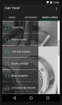 Can Yücel Müzik Lyrics screenshot 1