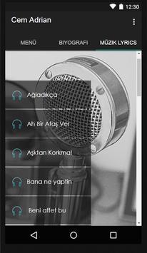 Cem Adrian Müzik Lyrics screenshot 1