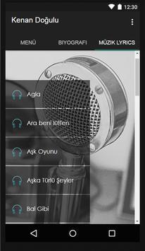 Kenan Doğulu Müzik Lyrics screenshot 1