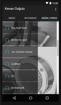 Kenan Doğulu Müzik Lyrics screenshot 2