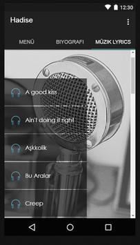 Hadise Bu Aralar Müzik Lyrics screenshot 1