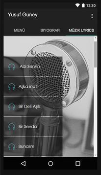 Yusuf Güney Müzik Lyrics screenshot 1