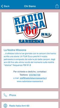 Radio Italia Anni 60 Sardegna screenshot 1