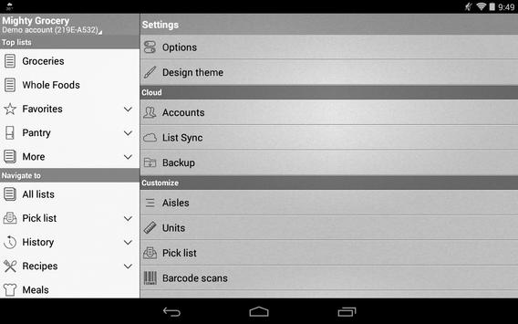 Mighty Shopping List Free apk screenshot