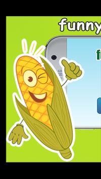 funny vegetable crush poster