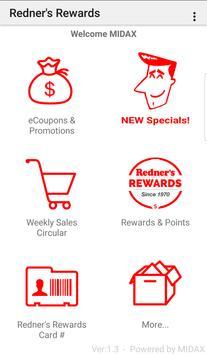 Redner's Rewards poster