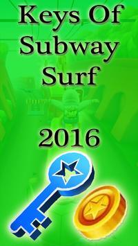 Keys Of Subway Surf 2016 poster