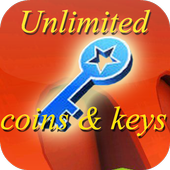 Unlimited Coins, keys subway icon