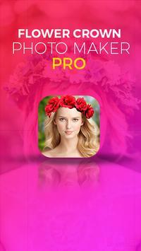 Flower Crown Photo Sticker Pro poster