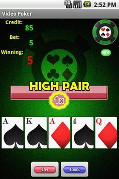 Video Poker apk screenshot