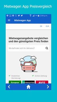 Mietwagen App poster