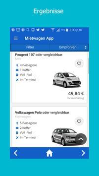 Mietwagen App screenshot 2