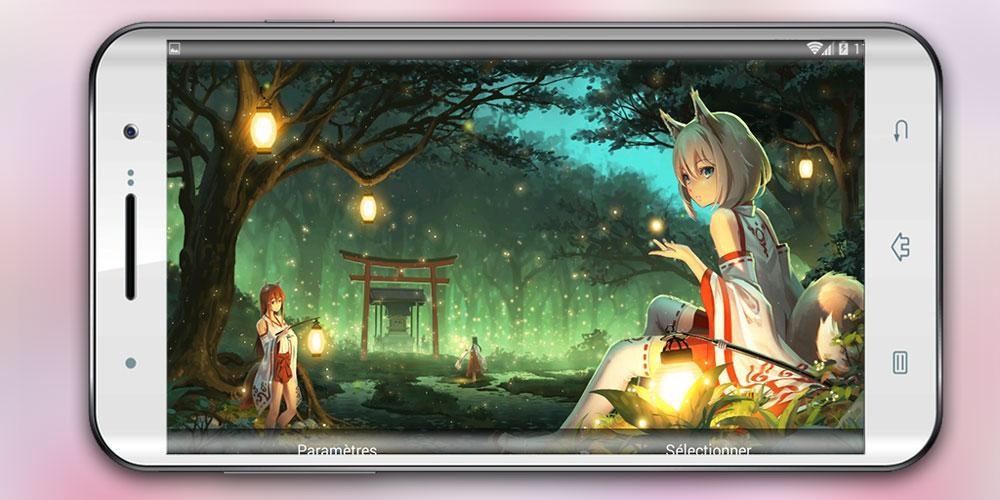 Live Wallpaper Miko Fox Anime For Android Apk Download
