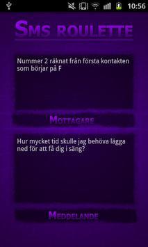 Sms roulette - lite screenshot 1