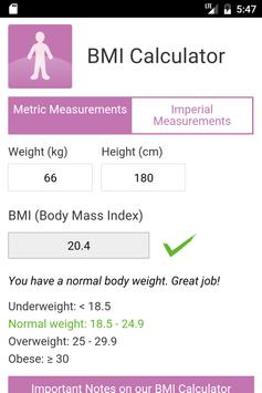 BMI Calculator by MES poster