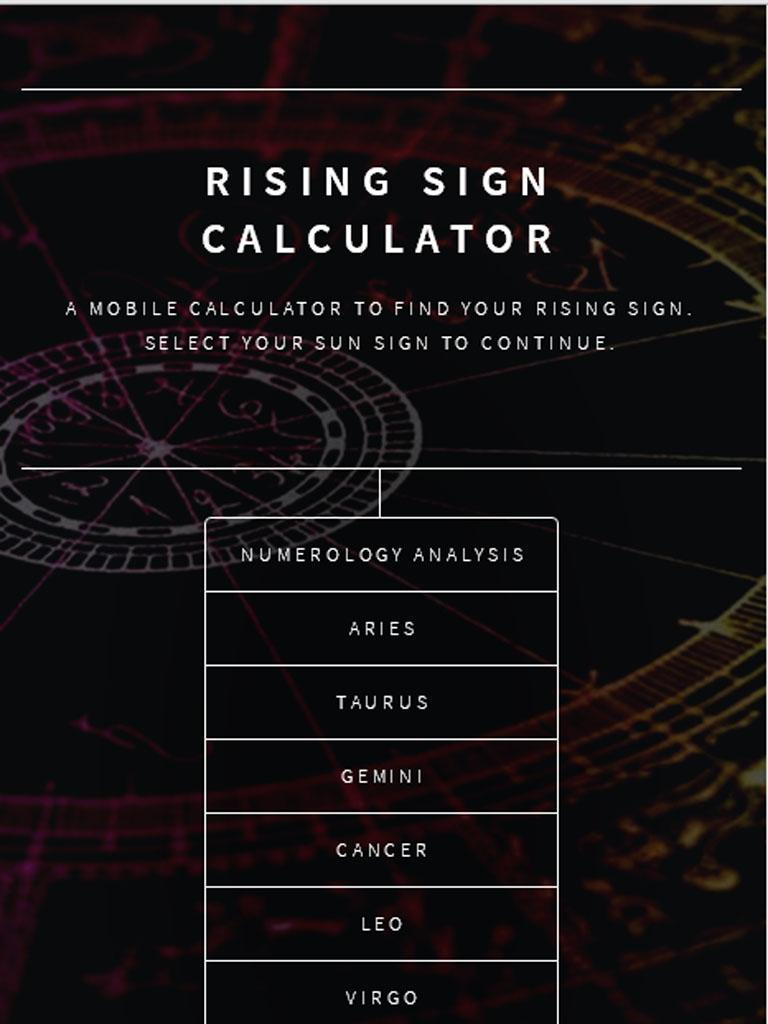 Rising Sign Calculator for Android - APK Download