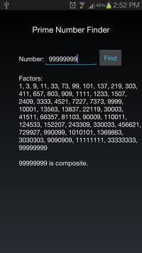 Prime Number Finder apk screenshot