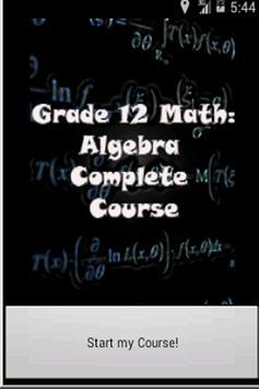 Grade 12 Math: Algebra poster