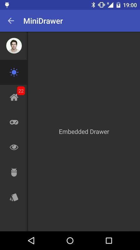 MaterialDrawer Sample APK ダウンロード- 無料 ライブラリ&デモ アプリ Android ...