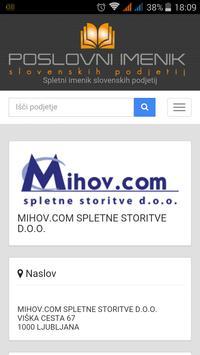 Imenik podjetij apk screenshot