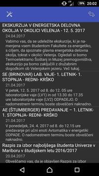 Obvestila FE UM poster