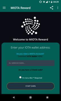 MIOTA Reward - Earn Free IOTA apk screenshot
