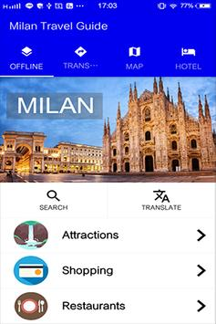Milan Travel Guide poster