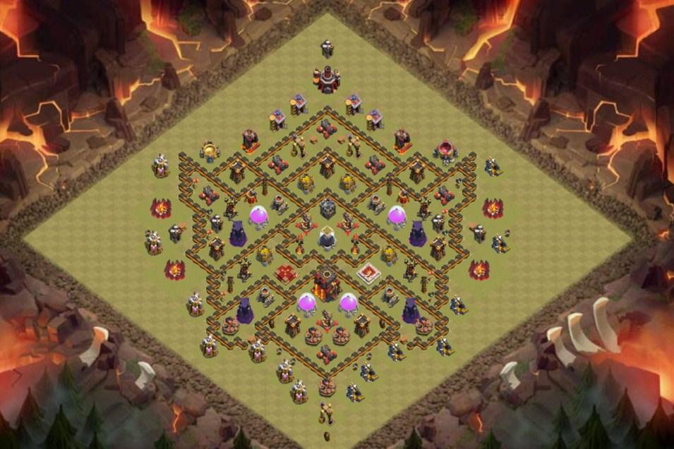 Base Coc Th 10 Terkuat Untuk War 6