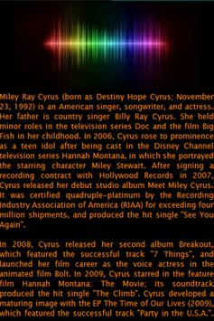 Miley Cyrus Lyrics screenshot 1