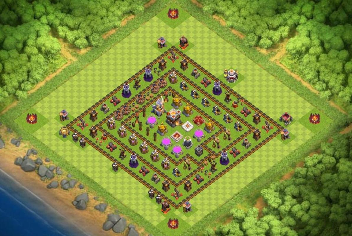 coc town hall 9 best defense