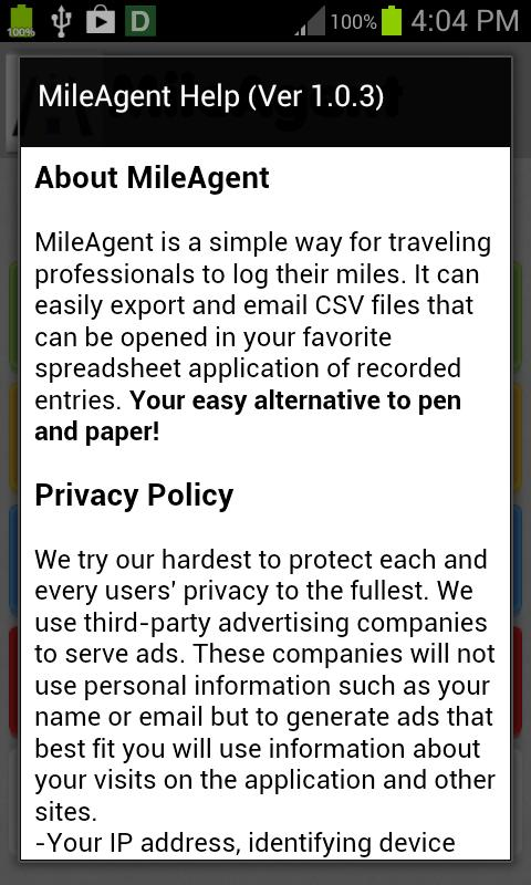 mile agent mileage log for android apk download
