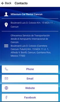 Milenium Car Rental Cancun apk screenshot