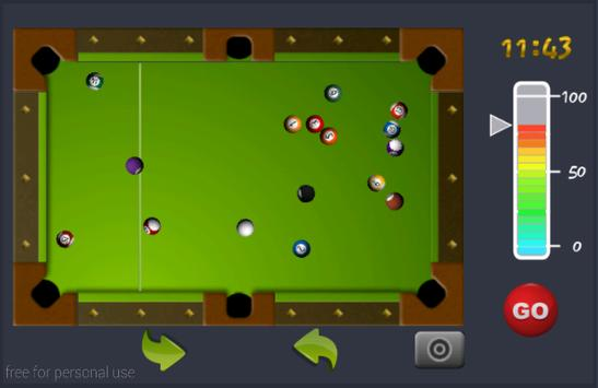 لعبة بلياردو (تحدي الوقت) apk screenshot