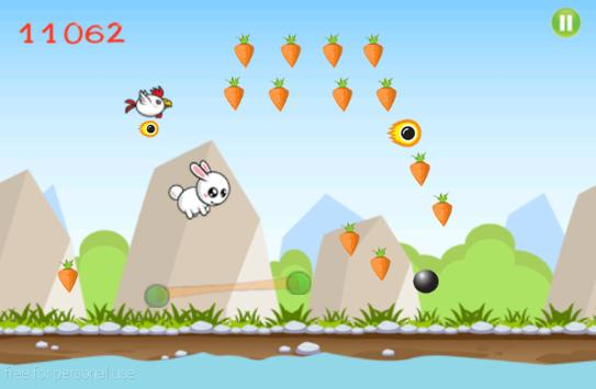 Flying Bunny Free apk screenshot
