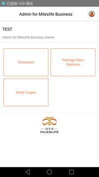 Mileslife-Merchant App poster