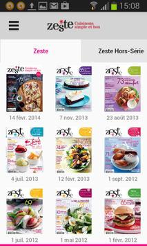 Zeste - Magazine poster