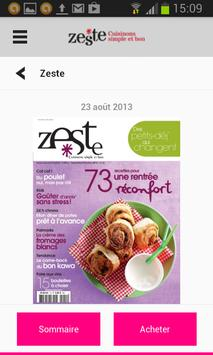 Zeste - Magazine apk screenshot