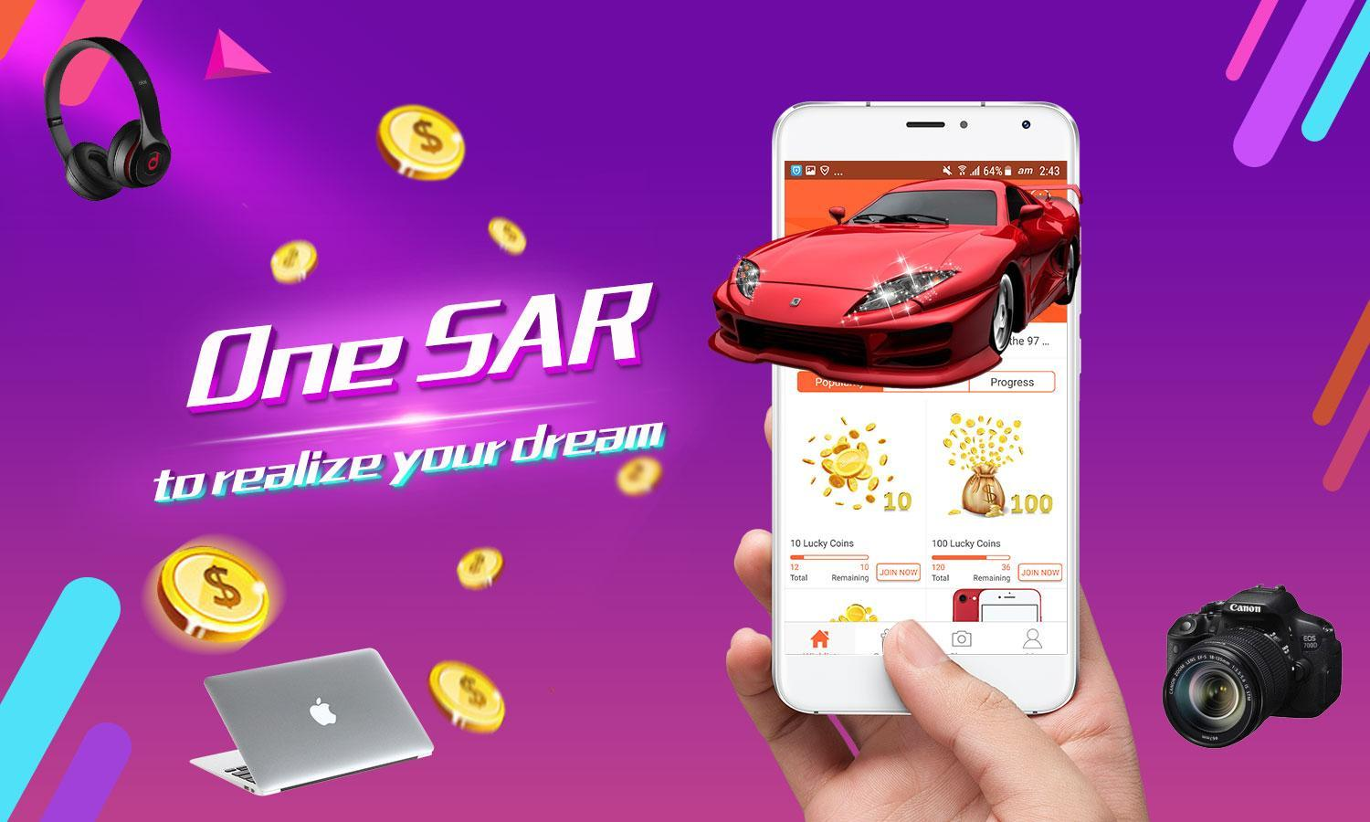 Lucky Aladdin-New mode of online shopping  for Android - APK
