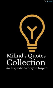 Milind's Quotes Collection poster