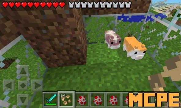 Hamsters Mod for Minecraft PE captura de pantalla 1