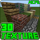 3D Texture Pack for Minecraft PE icon