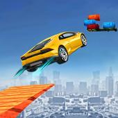 Floating Base Cars Stunts icon